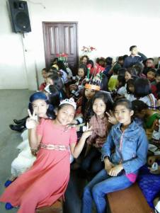 Children's Day Fancy Dress Class IV Girls in the Hall