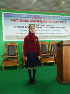 Maths Competition Prize-winner